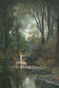 les baigneuses dans le sous bois by paul valantin