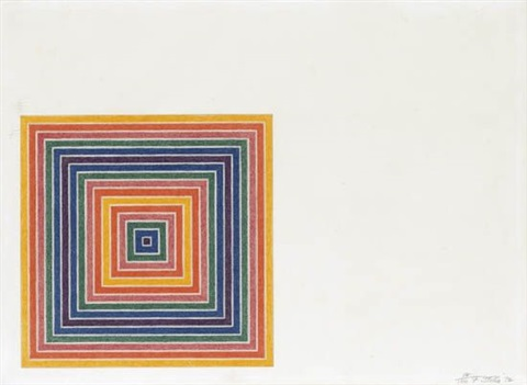 louisiana lottery co (from multicolored squares i) by frank stella