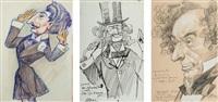 neuf portraits des personnalités du monde de l'art (9 works) by ferdinand bac