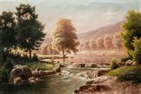 folyó vízeséssel by fritz chwala