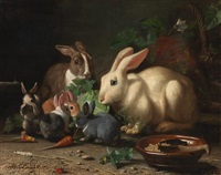 rabbits feast by bernard de gempt