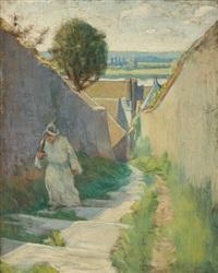 sur le chemin de saint jacques de compostelle by henri gabriel ibels