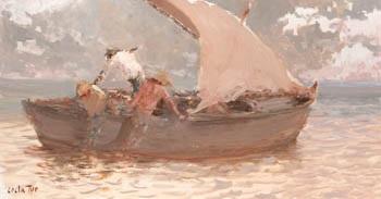pescadores en barca by jaime costa tur