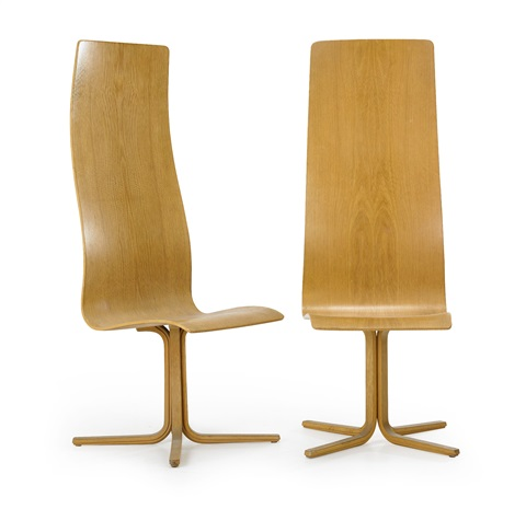 oxford chairs pair by arne jacobsen
