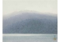 lake in morning by somei tsubouchi