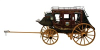 nine passenger stage coach (w/fred fellows painting on doors) by robert wagoner