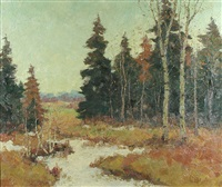woods near mahogog by paul barnard earle