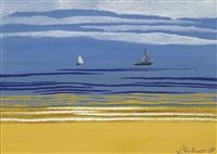 marine avec bateaux à voiles by léon spilliaert