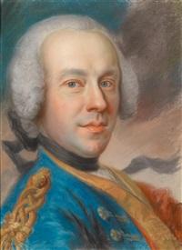 porträt eines jungen mannes by maurice quentin de la tour