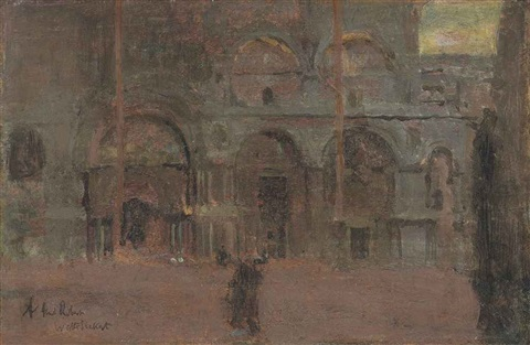 the façade of st marks venice by walter richard sickert