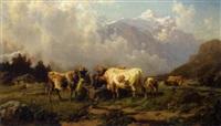 kühe auf der alm by carl august reinhardt