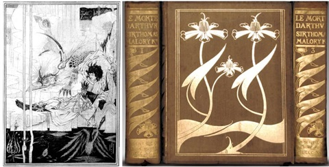 the birth, life and acts of king arthur of his noble knights of the round table (bk by sir thomas malory w/works) by aubrey vincent beardsley