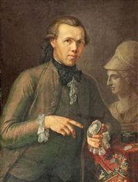 dreiviertelportrait eines medaillensammlers by johann wenzel peter