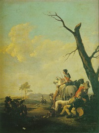 le repos des chasseurs by frans anton (mayerle) meyer