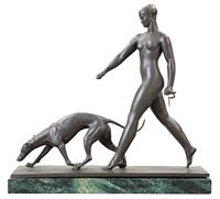 kvinna med hund by raymond leon rivoire