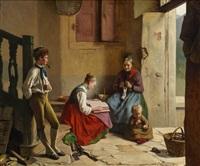 häusliche szene by franz meyerheim