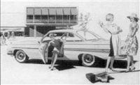 showing a new dress in the parking lot by verne tossey