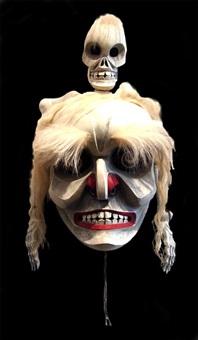 skeleton mask by don lelooska