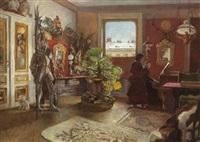 interieur - beim klavierspiel by josef köpf
