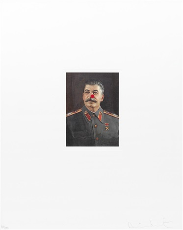 stalin comic relief print by damien hirst