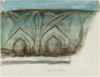 study of an architrave by john ruskin
