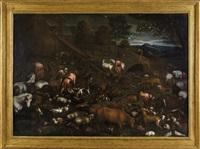 l'ingresso degli animali nell'arca di noe by leandro da ponte bassano