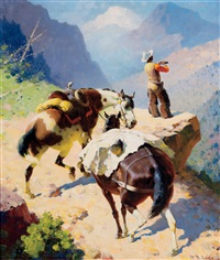 scouting the crags by william leighton leitch