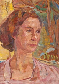 portrait of daphne porter (double-sided) by irene hoffar reid