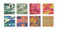 camouflage (set of 8) by andy warhol