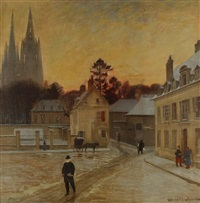 hiver à soissons by charles hippolyte andre