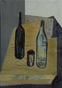 bodegón de botellas by francisco cortijo