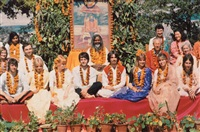 the beatles in rishikesh, india by paul saltzman
