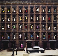 girls in the windows, new york city by ormond gigli, 1960 by ormond gigli