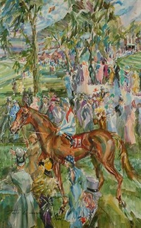 leaving the paddock, royal ascot by jack lawrence miller
