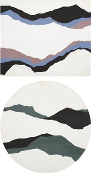 winter hills (+ cloudy ranges, smllr; 2 works) by eugeniusz markowski