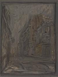 rue d'alésia - exposition giacometti by alberto giacometti