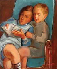 the children aviva and jacob rechter by nachum gutman