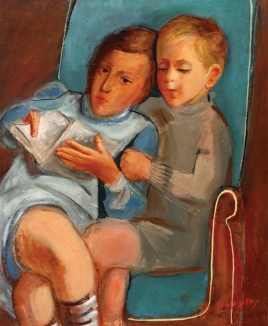 the children aviva and jacob rechter by nachum gutman