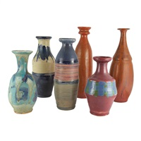 vases (set of 6) by hui ka-kwong