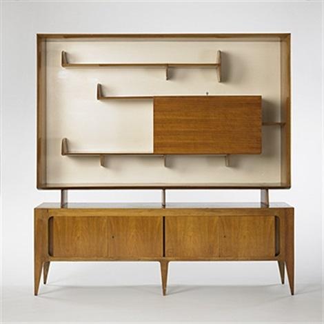 Display cabinet model 2140 by gio ponti on artnet - Gio ponti mobili ...