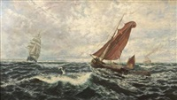 squally weather, pegwell bay by thomas rose miles