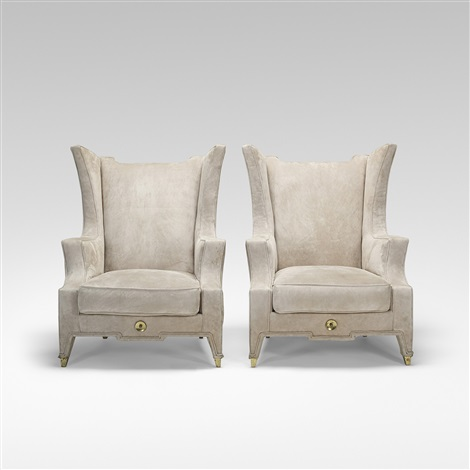 Attractive Custom Lounge Chairs, Pair By Arturo Pani