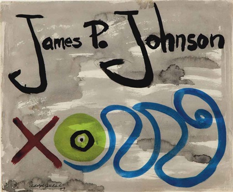 james p johnson love by adolph gottlieb