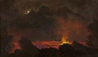 mauna loa volcano, hawaii by jules tavernier