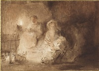 the holy family by abraham van dyck