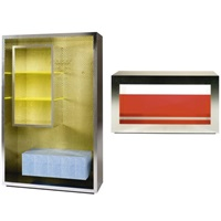 luna bookcase (+ nebbia side table; 2 works) by andrea anastasio