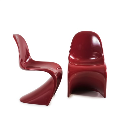 Two Panton Chairs By Verner Panton
