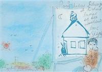 jeune garçon à la fenêtre by marc chagall