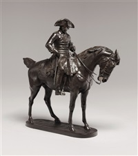 a statue of king frederick ii on horseback by rudolf kaesbach