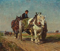 carriage in the field by julius paul junghanns
